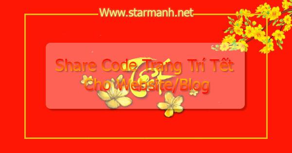 Share code trang trí website tết