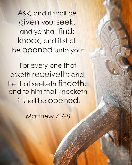 Yeshua = God: Ask, Seek, Knock - A Study on Matthew 7:7-8