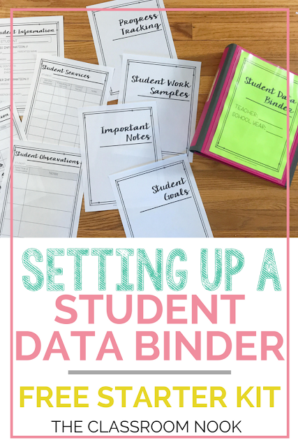 How to set up a student data binder with FREE starter kit!