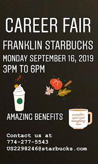 Career Fair - Franklin Starbucks - Sep 16