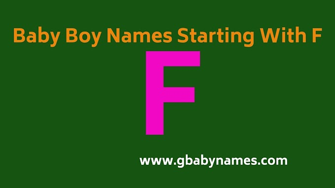 Baby Boy Names Starting With F