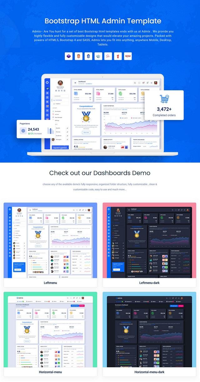 HTML Admin Dashboard Template
