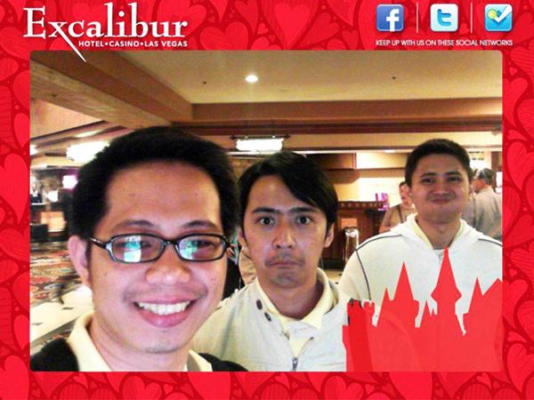 Excalibur hotel photo op