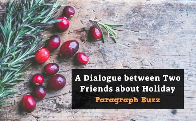 A Dialogue between Two Friends about Holiday