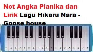 Not Angka Pianika Dan Lirik Lagu Hikaru Nara Goose House Calonpintar Com