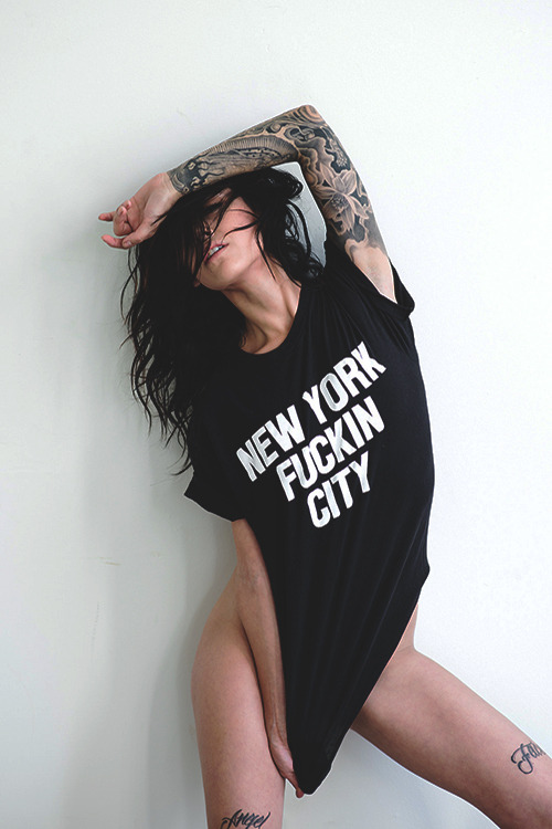 New York Fuckin City shirt as worn by Alee Rose. PYGear.com