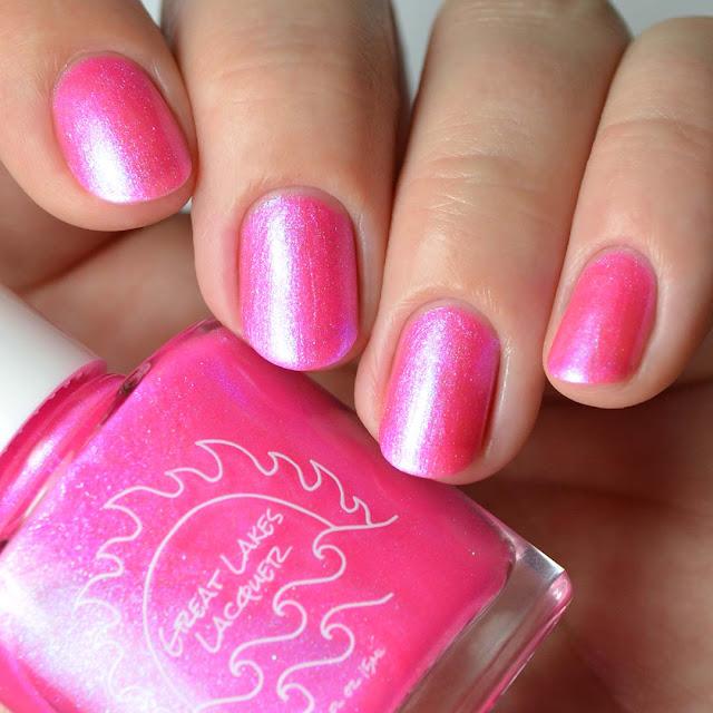 pink neon nail polish
