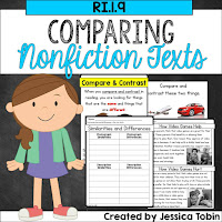Comparing nonfiction texts- students engaged with two nonfiction texts and they compare and contrast them- related to RI1.9, RI2.9, and RI3.9