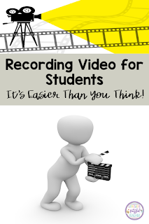 Distance learning is tough! There are so many new resources that teachers need to master in order to teach their students. This blog post will help all the frazzled teachers out there. Inside you will discover Recording Video for Students - It's Easier Than You Think! Read step-by-step how to record video of you teaching a lesson or reading your students a book. The best part...this is FREE! With this tool, you will begin to master distance learning in no time! #confessionsofafrazzledteacher