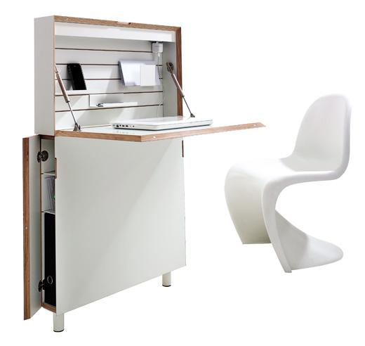 flatmate home office sekret r f r enge flure laptop. Black Bedroom Furniture Sets. Home Design Ideas