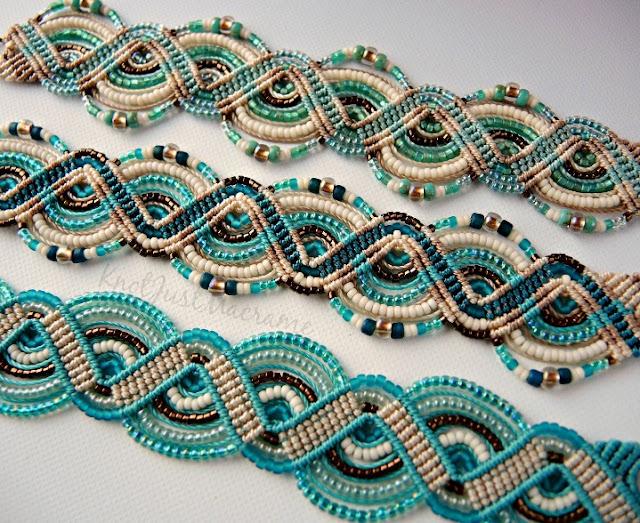 Micro Macrame ZigZag bracelet class by Sherri Stokey.