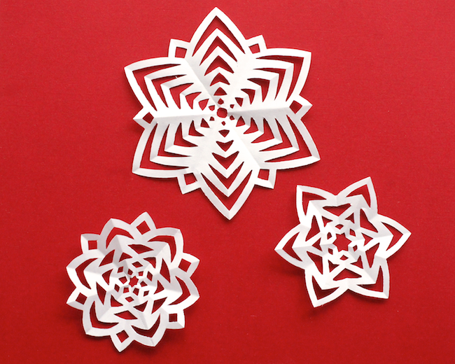 Origami 3d Paper Snowflakes