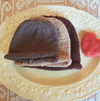 roll brim hat knitting pattern easy baby hat pdf