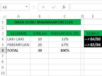Cara Cepat Menghitung Persentase (%) di Excel