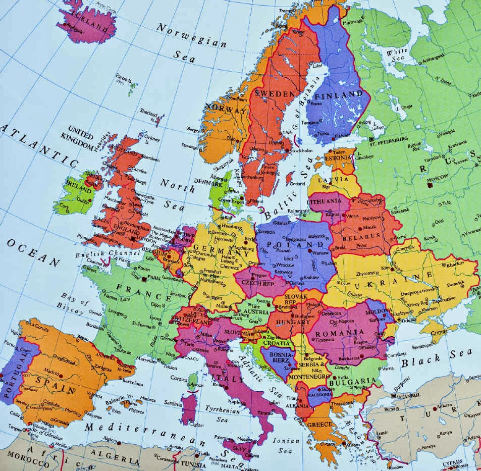 Family Travel Blog : Plotting a Route Through Western Europe on my country map, my weather map, my travel map,