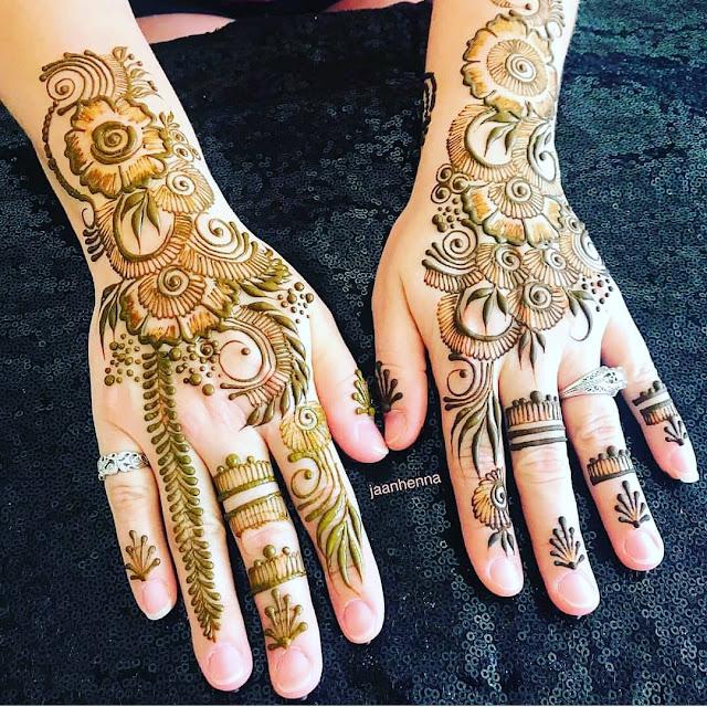 cute arabic mehndi designs for hands
