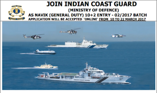Indian Coast Guard Recruitment 2018,