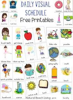 Free printable daily visual schedule for kids