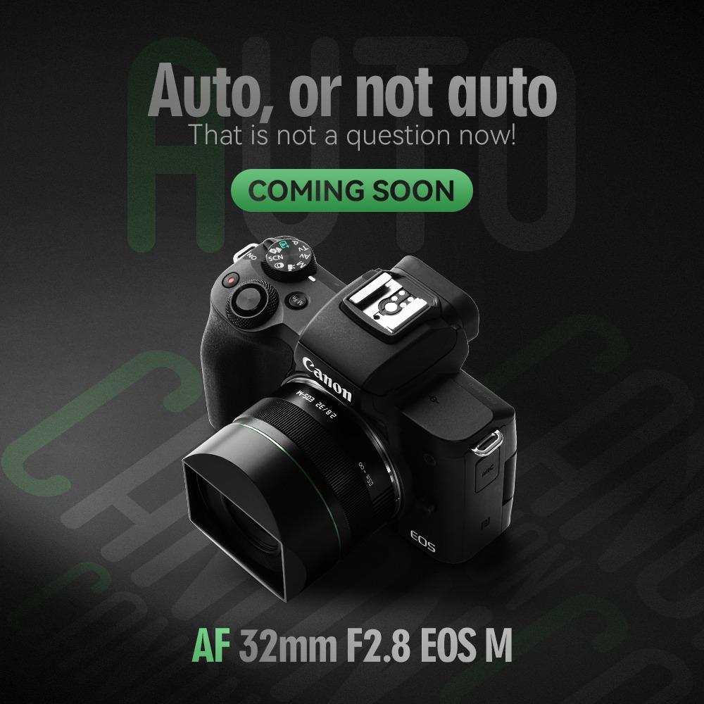 TTArtisan AF 32mm f/2.8 EOS M с камерой Canon