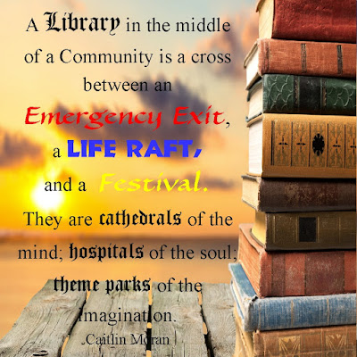 Books mean so many things to people.  They can be an Emergency Exit, a Life Raft, a Festival or so much more.  Save this printable quote or share these printable bookmarks with all your book loving friends.