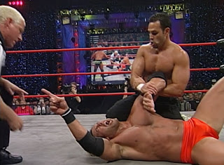 WCW Halloween Havoc 2000 - Chavo Guerrero puts a hurting on Chuck Palumbo