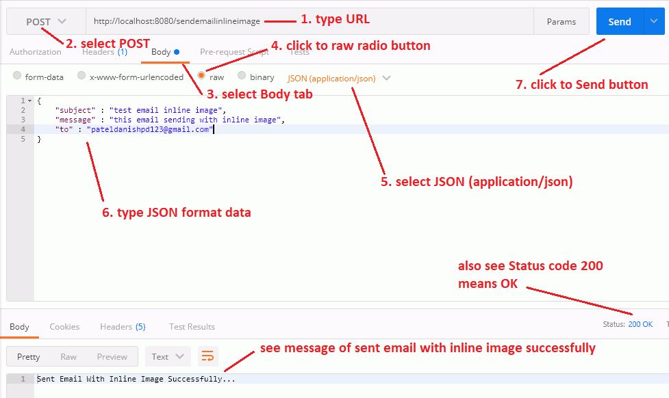 Sending an email with Inline Image