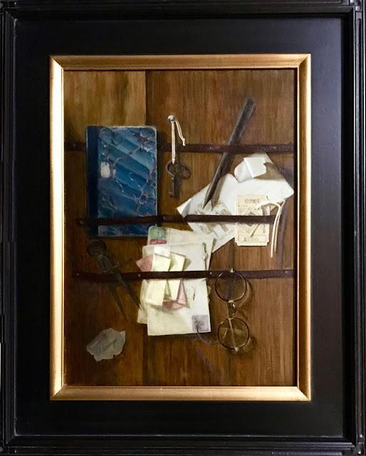 trompe l'oeil painting, still life, illustion