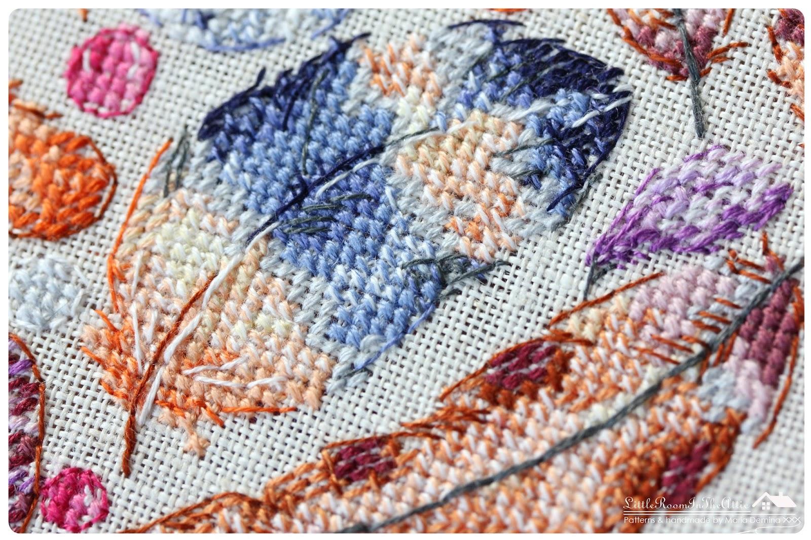Схема вышивки крестом акварель