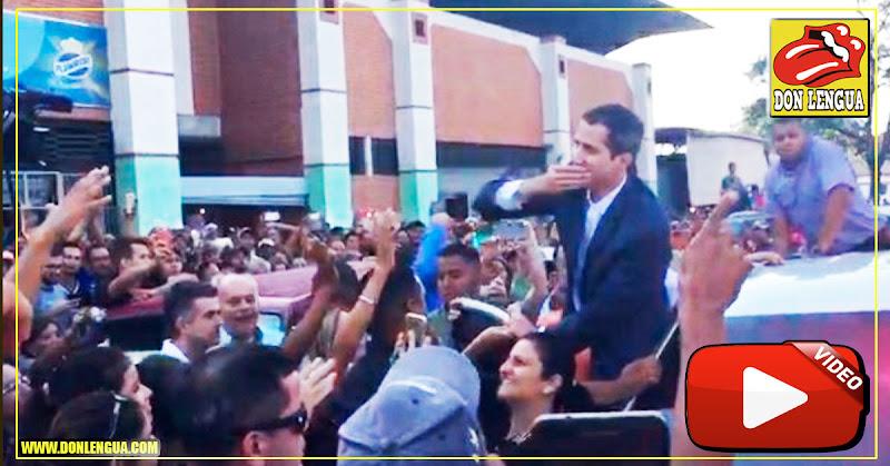 Guaidó recibido por miles de personas en Carabobo