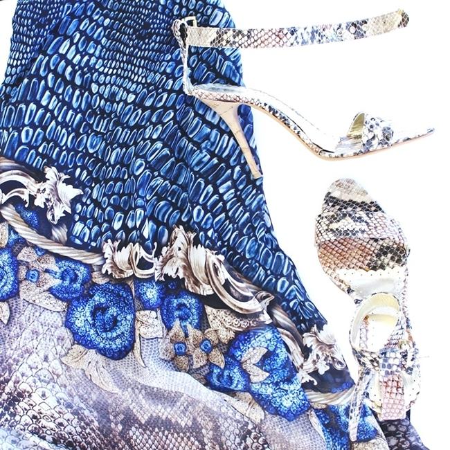 Jelena Zivanovic Instagram @lelazivanovic.Glam fab week.Snakeskin sandals and dress.Zmijska koza print, haljina i sandale.
