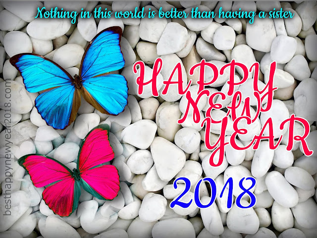 Happy New Year 2018 SMS for Sister