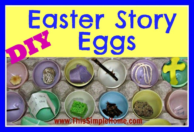 graphic regarding Resurrection Eggs Printable titled This Easy Dwelling: Do-it-yourself Easter Tale Eggs Printable