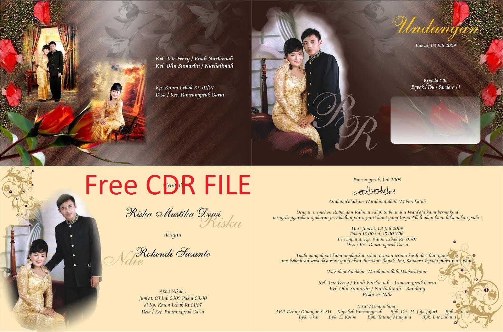 Download Undangan Pernikahan Gratis | Guru Corel