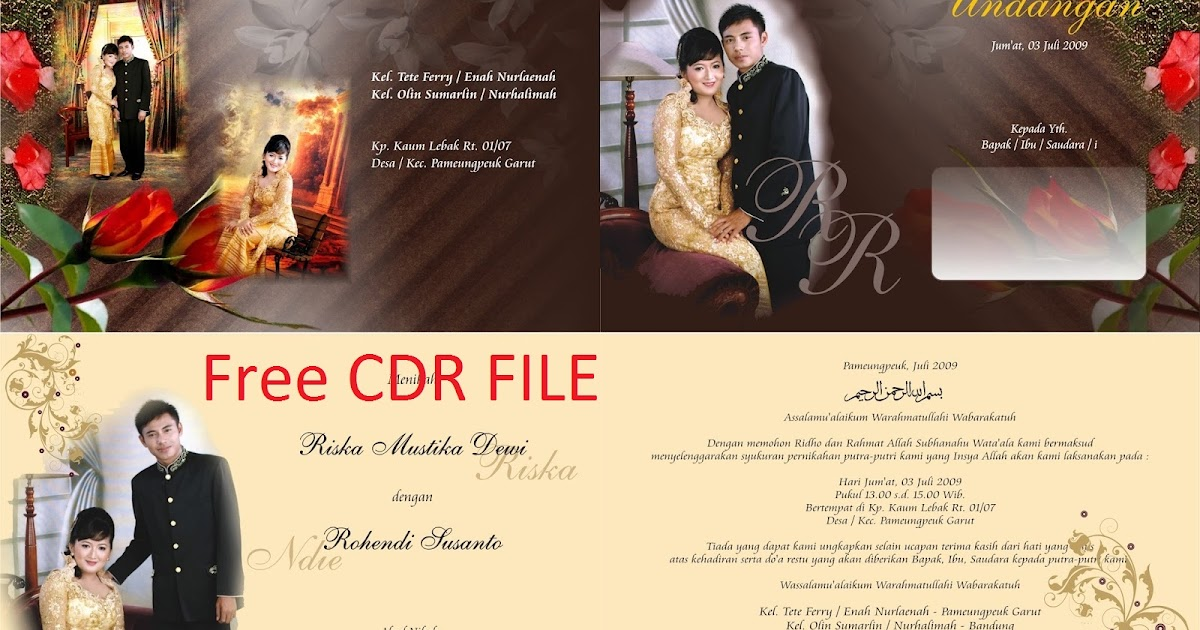 Download Undangan Pernikahan Gratis  Guru Corel