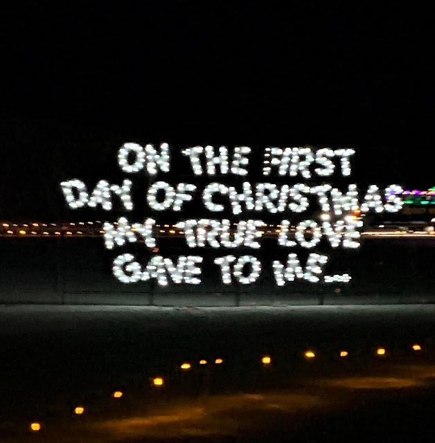 On the first day of Christmas light display #ad