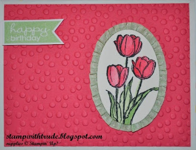 CAS, The Paper Players, spring, floral, Banner Greetings, birthday card, Blessed Easter, Stamp with Trude, Stampin' Up!