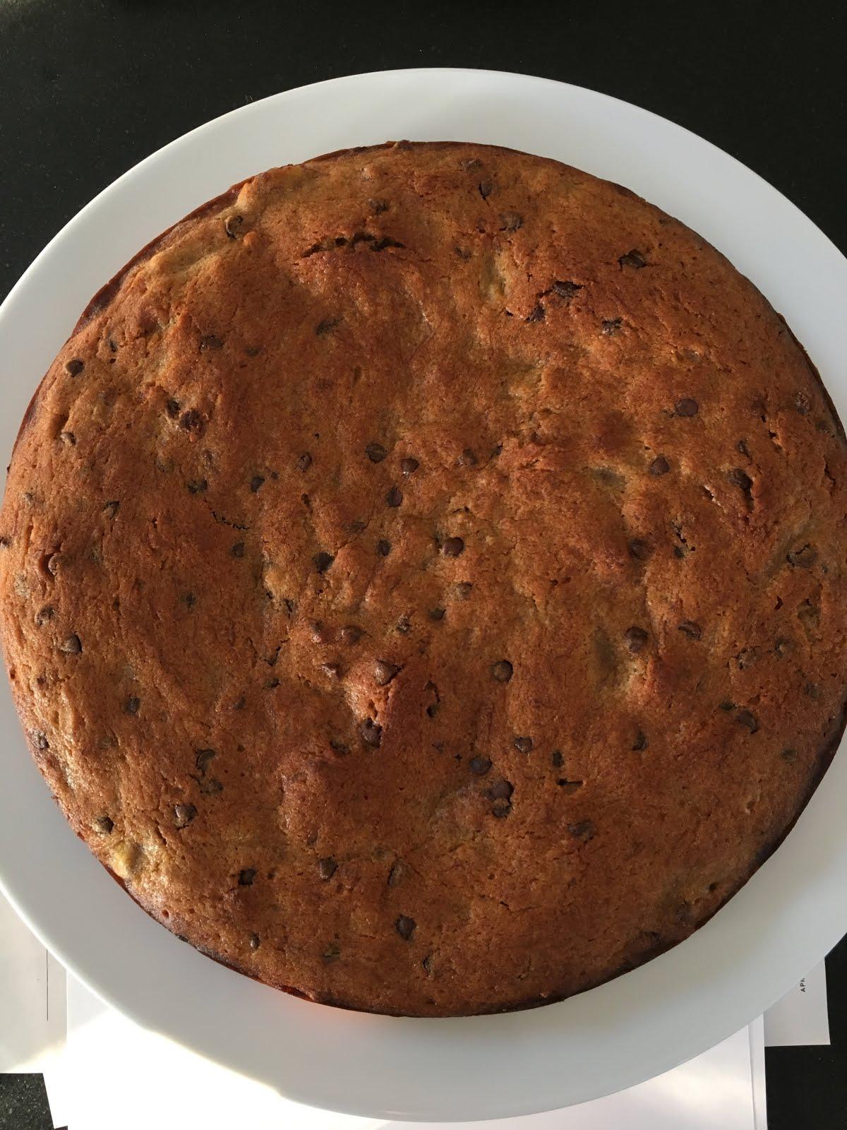 Banana Snack Cake Applesauce Chocolate