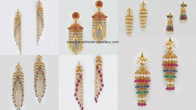 Light Weight Gold Jhumkas
