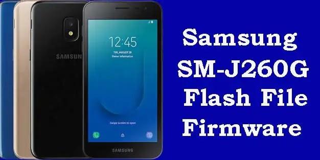 Samsung J260g flash file Tested Firmware