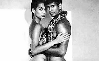 Model Madhu Sapre in a shoe advertisement