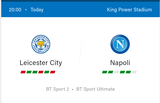 Leicester City vs Napoli Preview, Livestream and kickoff time