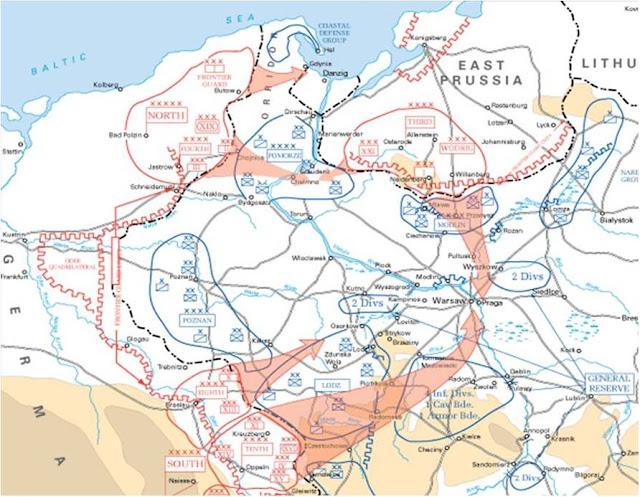 Η Στρατιά Poznan ήταν ανεπτυγμένη μεταξύ των δύο γερμανικών βραχιόνων