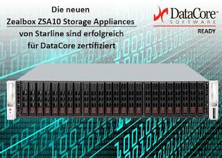 Starline stellt neue DataCore zertifizierte Storage Appliances von Zealbox vor