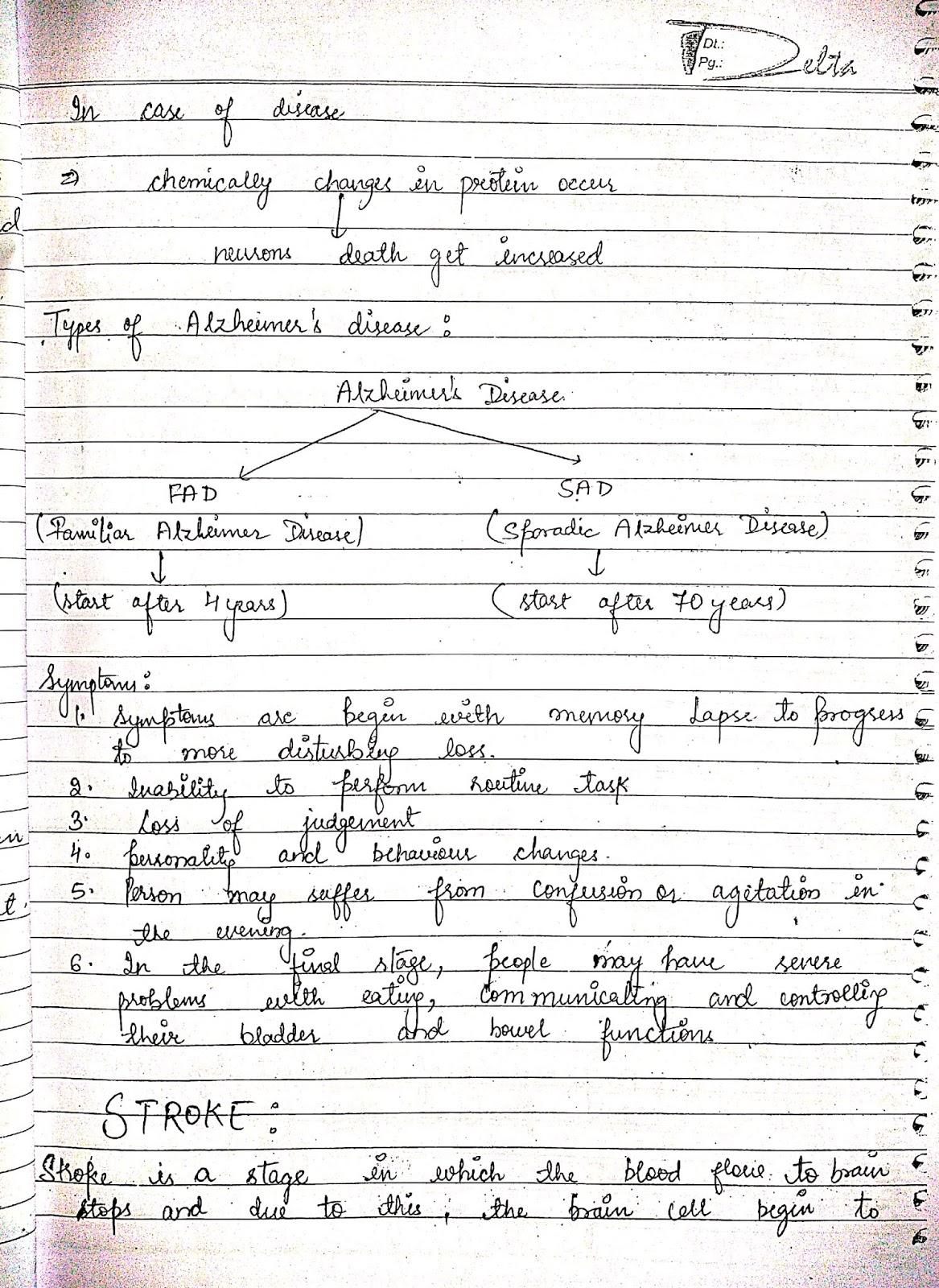 pathophysiology - nervous system disorder alziemer disorder