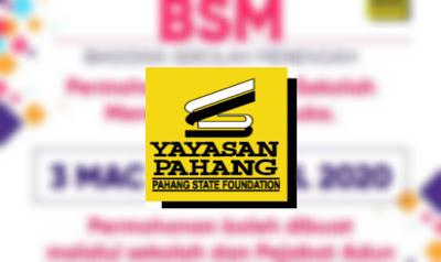 Permohonan Biasiswa Sekolah Menengah Pahang 2020 (Borang)