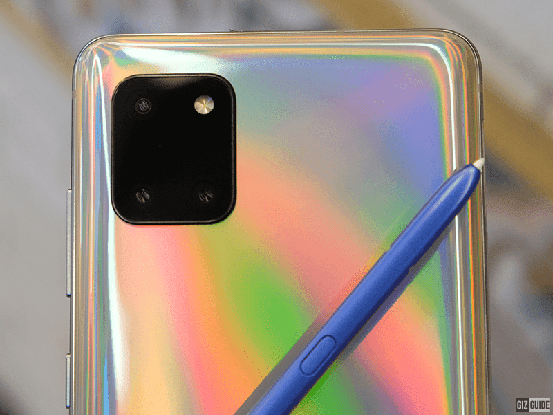 The Note 10 Lite has a three-camera setup on the back.