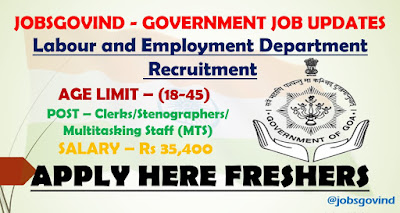 Labour and Employment Department Recruitment 2021