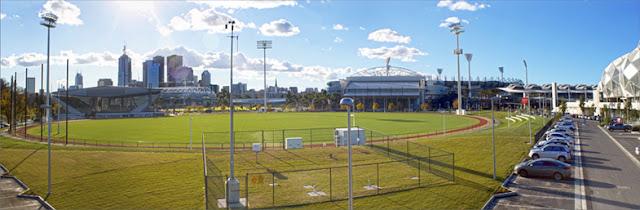 Taman alat sebuah stasiun cuaca di Australia