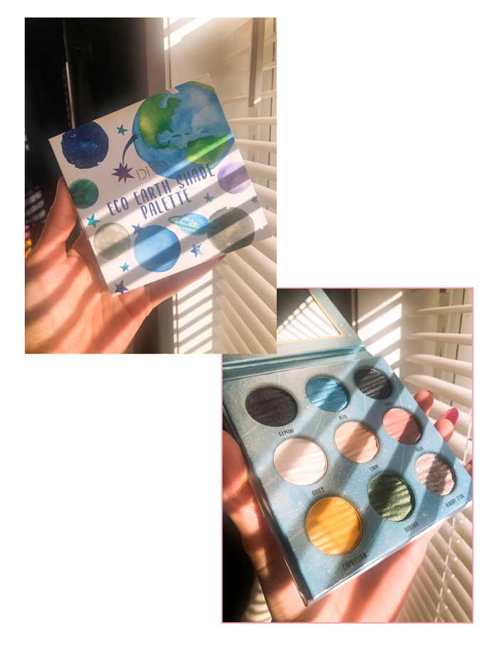 Eco earth palette with nice eyeshadows, vegan , cruelty free
