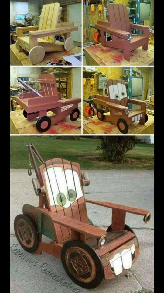 Silla de madera para niños de CARS